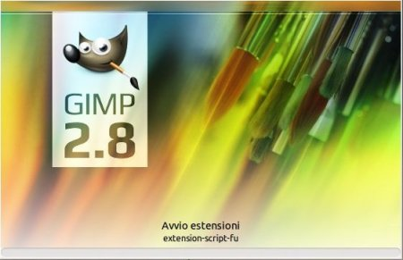 Gimp 2.8.0 splash screen logo